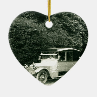 Wolseley vintage car ceramic heart decoration