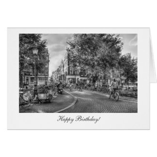 Wolvenstraat Singel Bridge - Happy Birthday Greeting Card