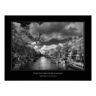 Wolvenstraat / Singel Canal, Sights of Amsterdam Poster