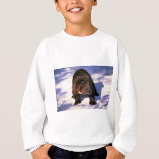 Wolverine on snow sweatshirt