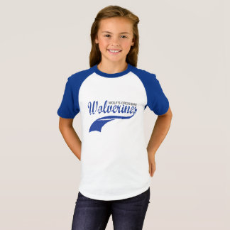 Wolverines Baseball Raglan Girls T-Shirt