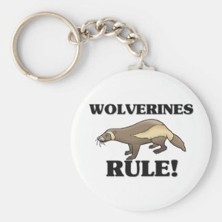 WOLVERINES Rule! Basic Round Button Key Ring