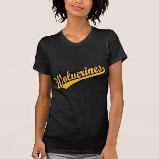 Wolverines script logo in orange T-Shirt