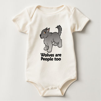 Wolves are People too Baby Bodysuits
