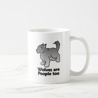 Wolves are People too Basic White Mug