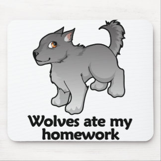 Wolves ate my homework mouse pad