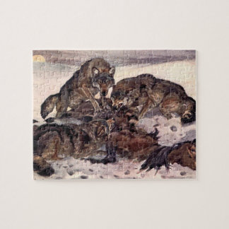 Wolves by Winifred Austen, Vintage Wild Animals Jigsaw Puzzle
