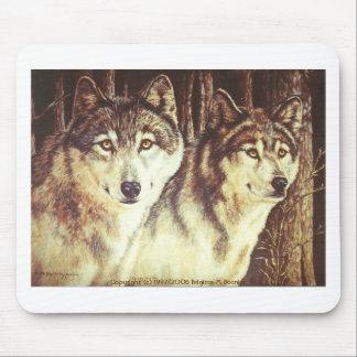 Wolves, Copyright (c) 1992/2006 Brigitte M Botnick Mouse Pad