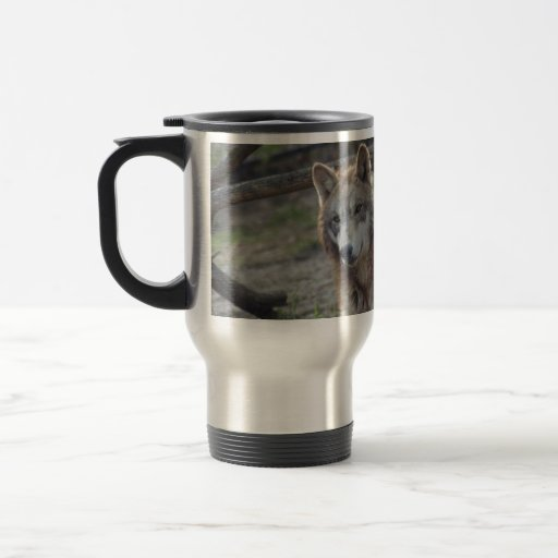 Wolves Grey Wolf Travel Mug Add Your Own Text