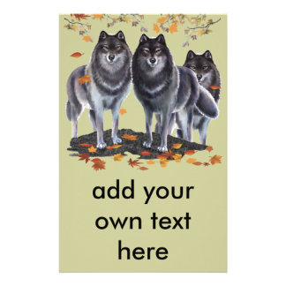 Wolves In Fall Stationery