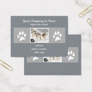 Wolves in Snow Business Card