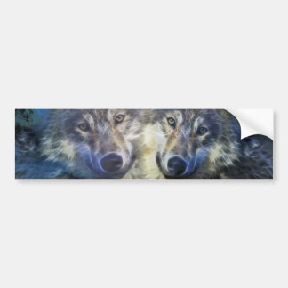 Wolves in the night bumper sticker