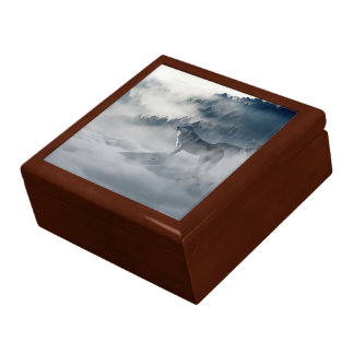 Wolves In Winter Keepsake Box