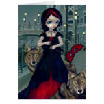 """Wolves of Venice"" Greeting Card"