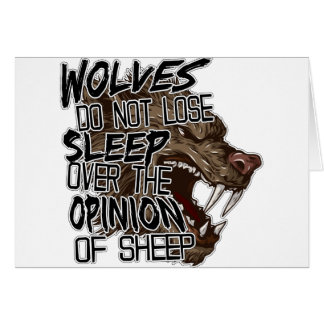 Wolves Opinion Greeting Card