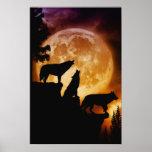 Wolves Peak Wolf Canvas Print by Julie Fain