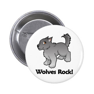 Wolves Rock! 6 Cm Round Badge