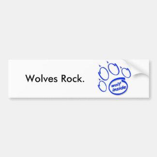 Wolves Rock. Bumper Sticker