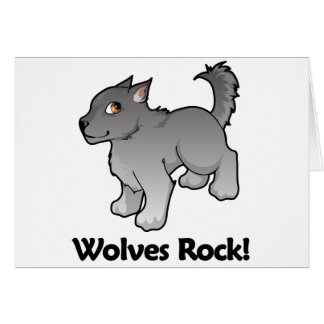 Wolves Rock! Greeting Card