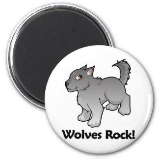 Wolves Rock! Magnet