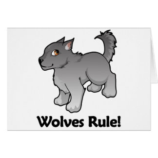 Wolves Rule! Greeting Card