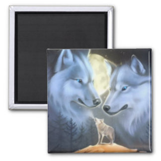 Wolves Square Magnet