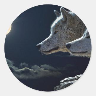 Wolves Round Sticker