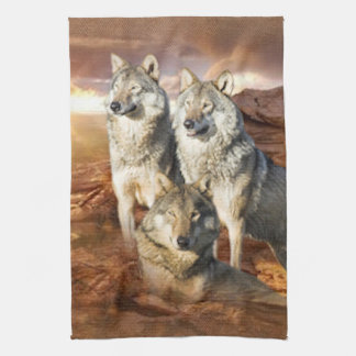 Wolves Trio American MoJo Kitchen Towels