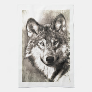 Wolves Wolf Animals Wild Nature Forest Tea Towel