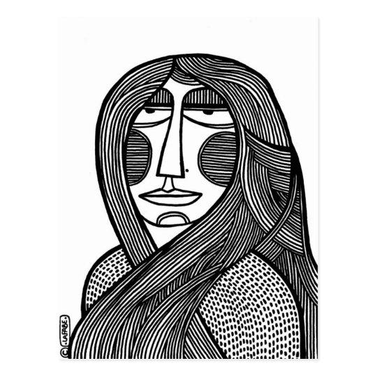 Woman /01 postcard