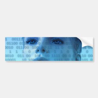 woman-163426 SCIENCE-FICTION ALIEN LIFEFORMS woman Bumper Stickers