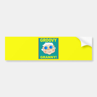 woman-268642_1920 GROOVY GRANDMA COLORFUL FUN woma Bumper Stickers