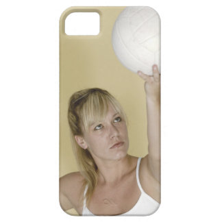 Woman about to serve volleyball barely there iPhone 5 case