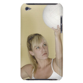Woman about to serve volleyball iPod touch cases