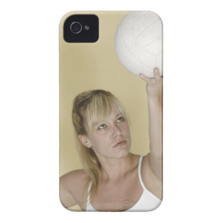 Woman about to serve volleyball iPhone 4 cover