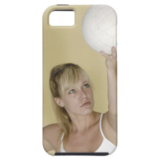 Woman about to serve volleyball iPhone 5 cover