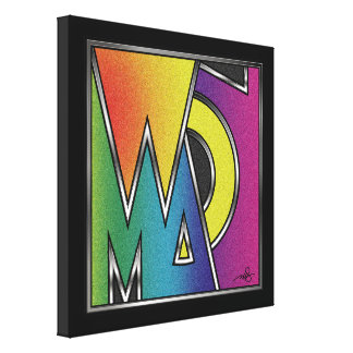 Woman Abstract Word Canvas Prints