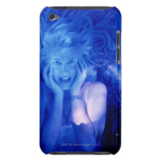 Woman afraid iPod Case-Mate cases