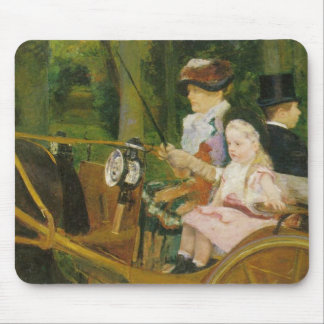 Woman and Child Driving, Mary Cassatt Mousepad