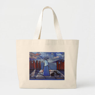 WOMAN AND HER DOG BAGS