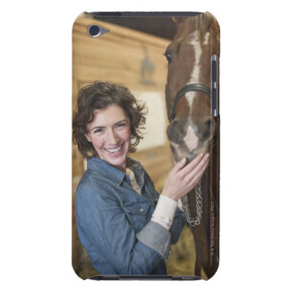 Woman and horse barely there iPod case