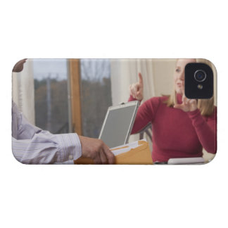 Woman and man signing the word 'Envelope' in iPhone 4 Cover