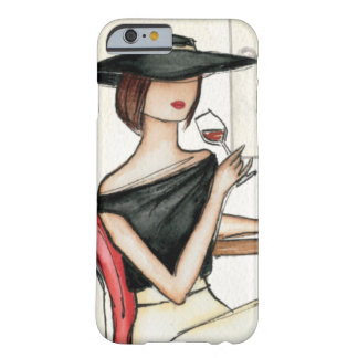 Woman and Wine Glass Barely There iPhone 6 Case