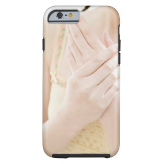 Woman Applying Hand Care Cream Tough iPhone 6 Case