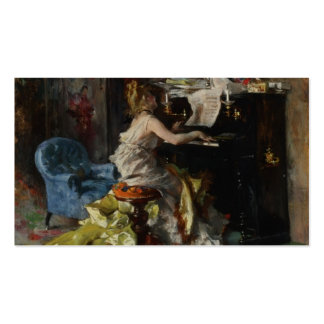 Woman at a Piano by Giovanni Boldini Pack Of Standard Business Cards