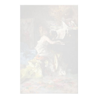 Woman at a Piano by Giovanni Boldini Stationery Design