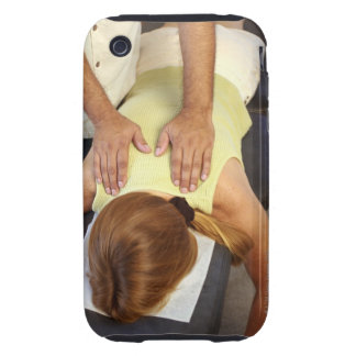 Woman at chiropractic appointment iPhone 3 tough case