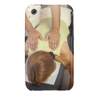 Woman at chiropractic appointment Case-Mate iPhone 3 case