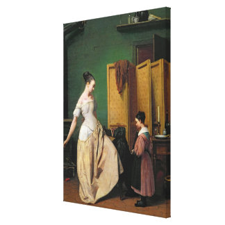 Woman at her Toilet 1835 Gallery Wrapped Canvas