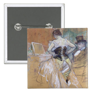Woman at her Toilet, study for 'Elles', c.1896 15 Cm Square Badge
